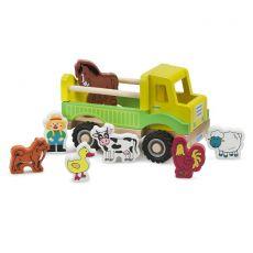 Ciężarówka ze zwierzętami z gospodarstwa domowego