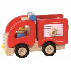 Drewniany samochód - straż pożarna
