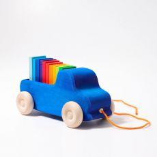 Ciężarówka do ciągnięcia 0+, niebieska, Grimm's