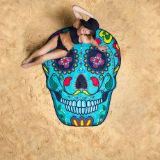 Koc plażowy czaszka