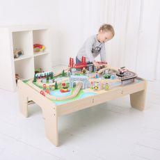 Kolejka drewniana zestaw  ze stołem