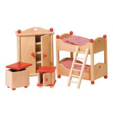 Wyposażenie domków - Pokój dziecięcy czerwony