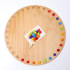 Tarcza miesięczna 35 kolorowych drewnianych kulek, Grimm's