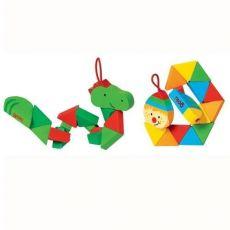 Kieszonkowe puzzle krokodyl i klaun
