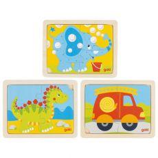 Puzzle dino, straż, słoń