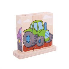 Klocki na kołeczki - pojazdy
