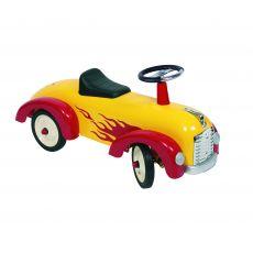 Jeździk auto do odpychania nóżkami - Goki Żółta Wyścigówka