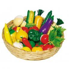 Warzywa i owoce w koszyku