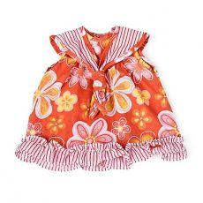 Ubranka dla lalek - pomarańczowa sukienka
