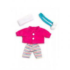 Ubranko dla lalki 21 cm biało-różowe z szalikiem