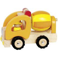 Drewniany samochód - betoniarka