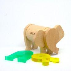 Konstrukcyjne klocki magnetyczne Słoń