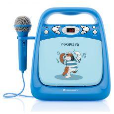 Odtwarzacz CD/mp3 i mikrofonem funkcją karaoke dla dzieci  - niebieski