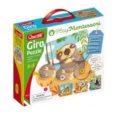 Zwierzęce Puzzle Montessori