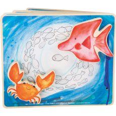 Drewniana książeczka dla niemowląt Podmorska Przygoda