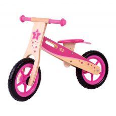 Rowerek biegowy z drewna dla dziewczynek (różowy) BigJigs