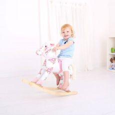 Koń na biegunach różowy dla dziewczynki