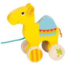 Drewniany wielbłąd na sznurku