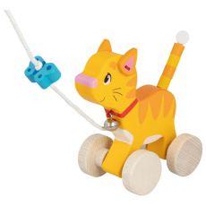 Drewniany kotek do ciągnięcia