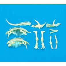 Dinozaur Triceratops świecący w ciemności