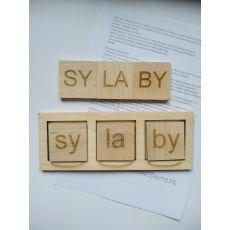 Skrzynka sylabowa- zabawka edukacyjna dla dzieci