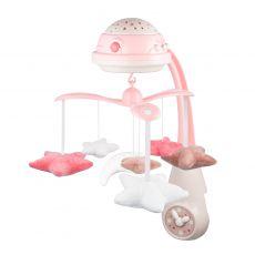 Karuzela elektryczna z projektorem i pozytywką Canpol Babies - różowa