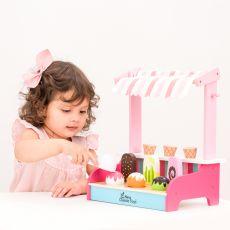 Drewniany sklep z lodami - lodziarnia dla dzieci