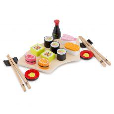 Drewniane jedzenie - zestaw sushi