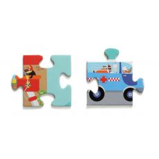 Scratch Puzzle podłogowe MIASTO 100 szt.