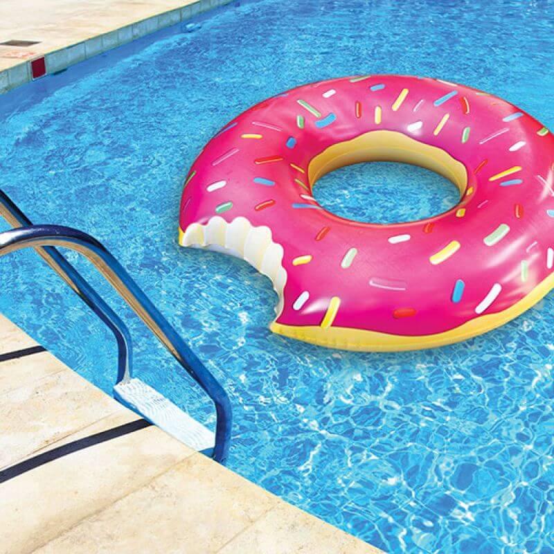 Bigmouth Koło do pływania różowy pączek
