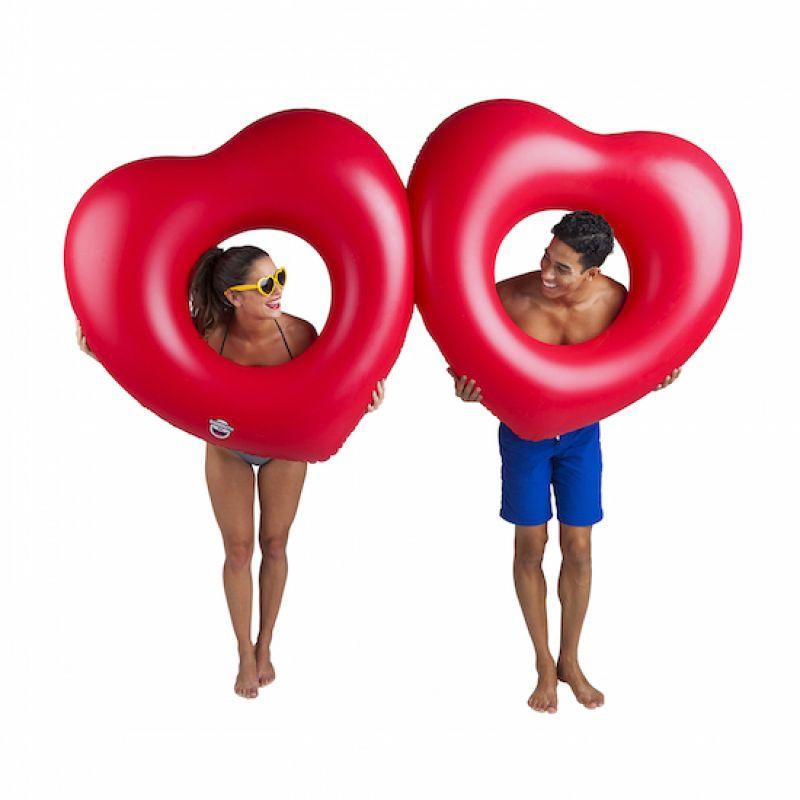 Dwa koła do pływania serca