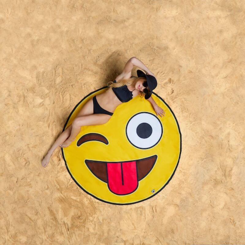 Koc plażowy emotikon
