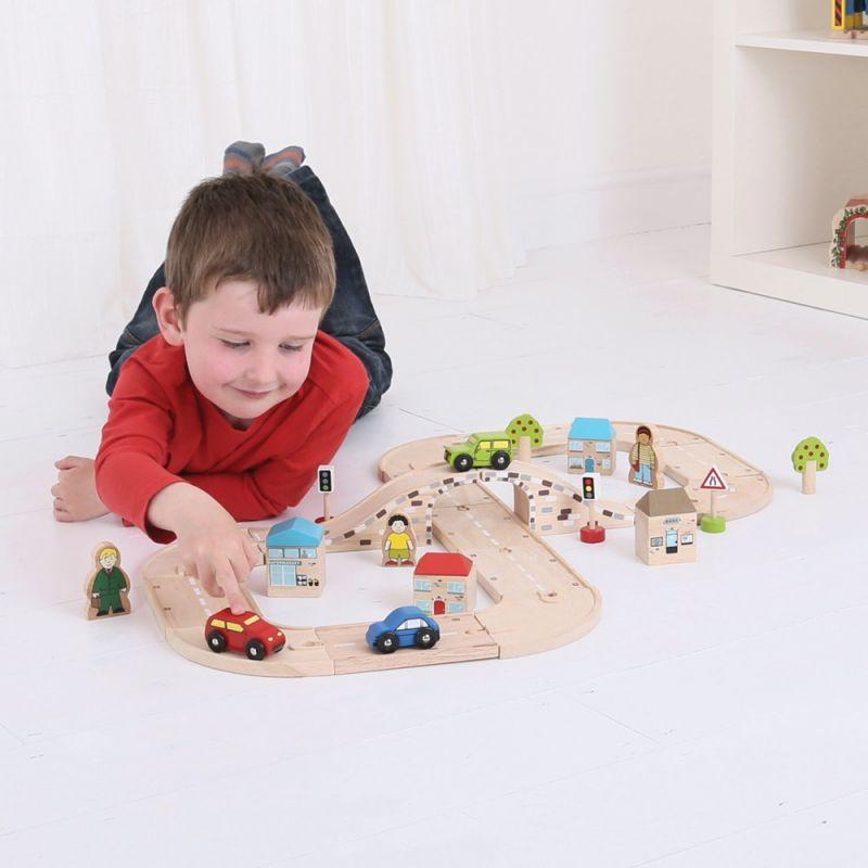 Drewniana droga dla dzieci - zestaw BigJigs ósemka