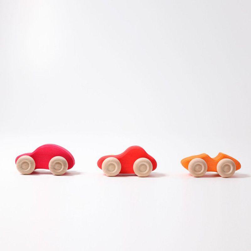 Drewniane Samochodziki 6 szt. 1+, kolorowe, Grimm's