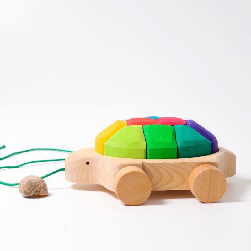Żółw na kółkach 1+, tęczowy, Grimm's