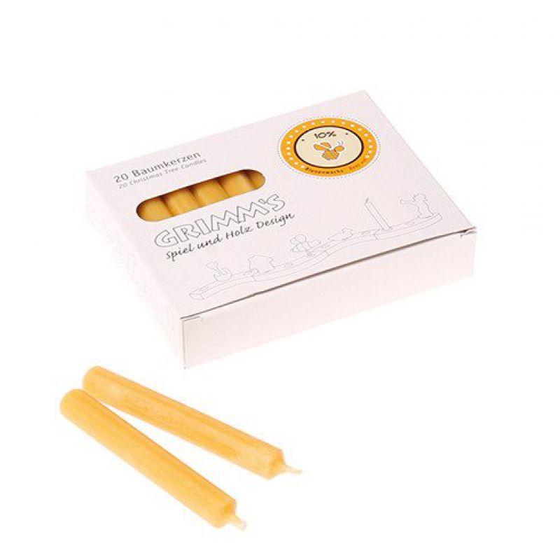 Świece bursztynowe z woskiem pszczelim (10%), Grimm's