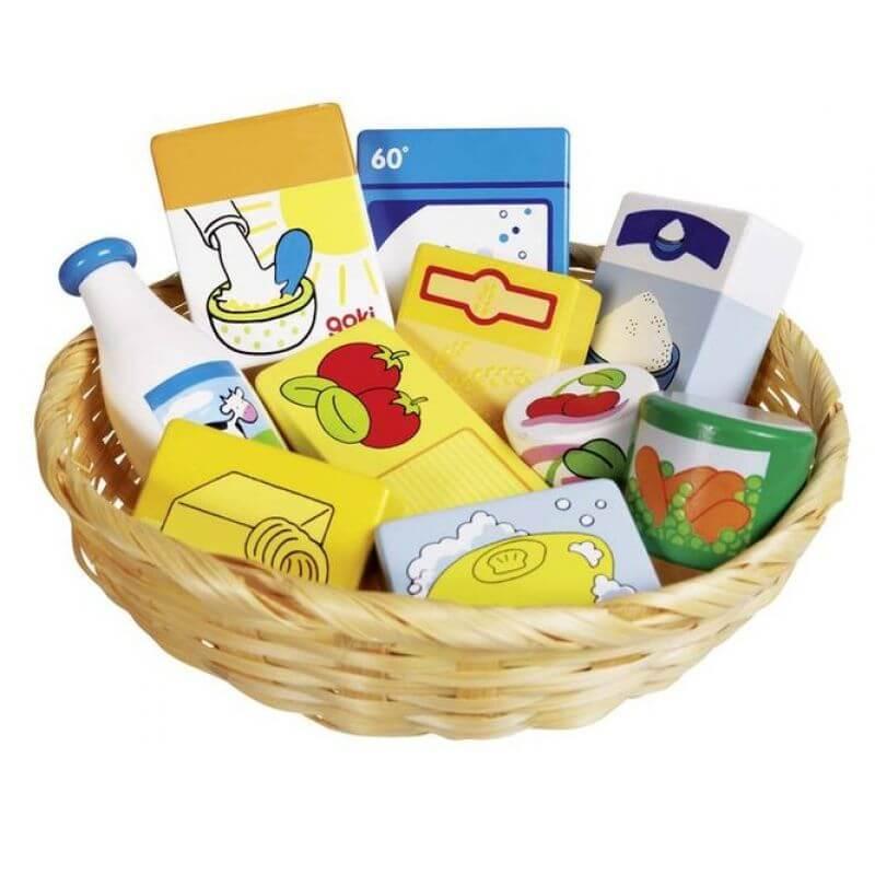 f95ffa740aad38 Koszyk drewnianych zakupów - Dobre Zabawki