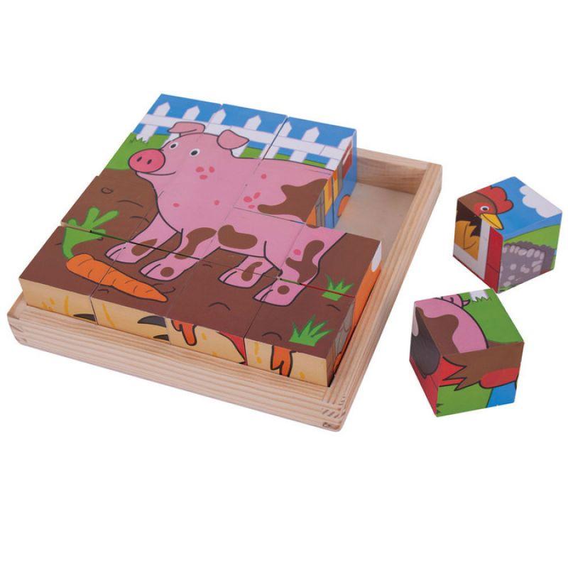 Kwadratowe Puzzle Farma