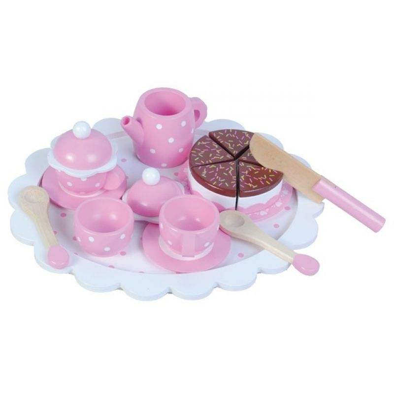 Różowy zestaw herbaciany