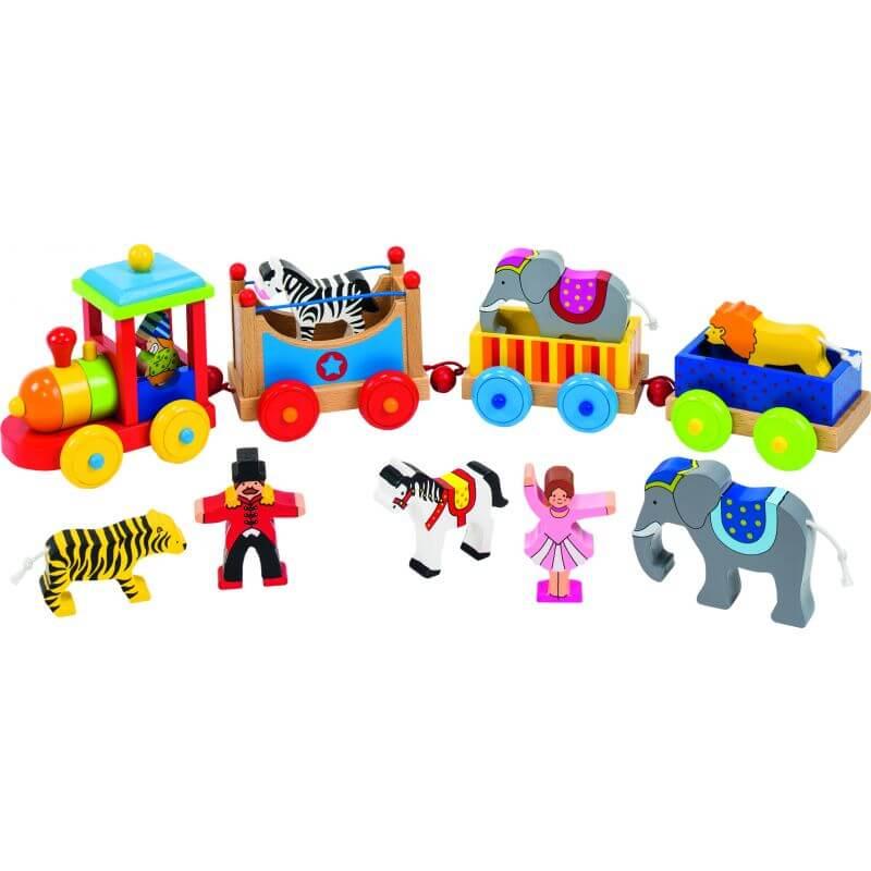 Pociąg ze zwierzętami cyrkowymi