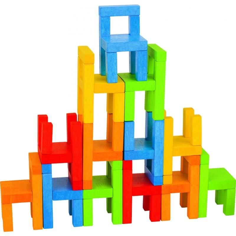 Edukacyjna układanka zręcznościowa - krzesełka