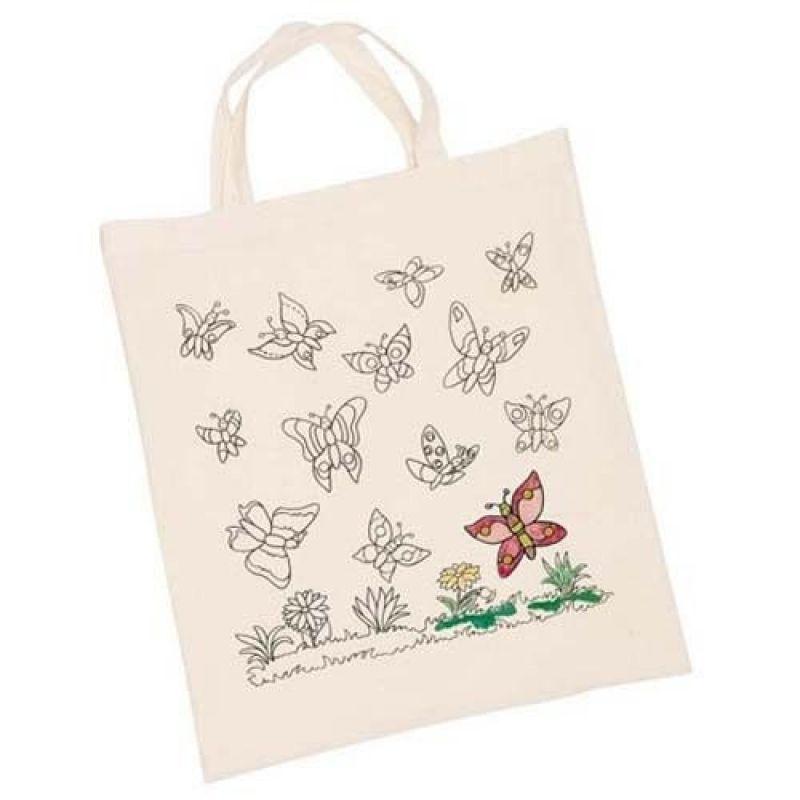 Torba bawełniana motylki