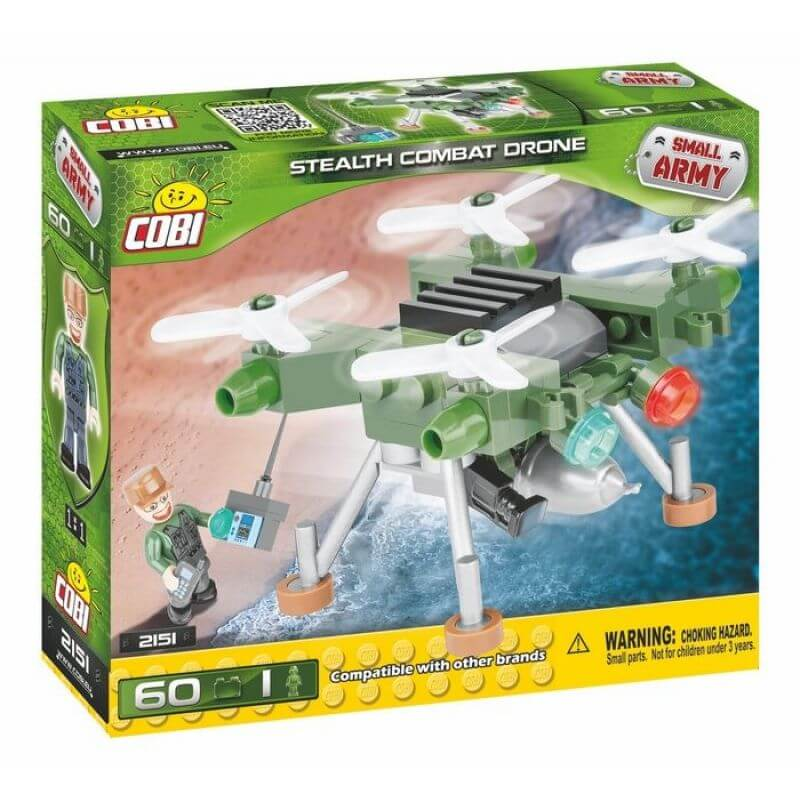 Small Army Stealth Combat Drone 60 klocków