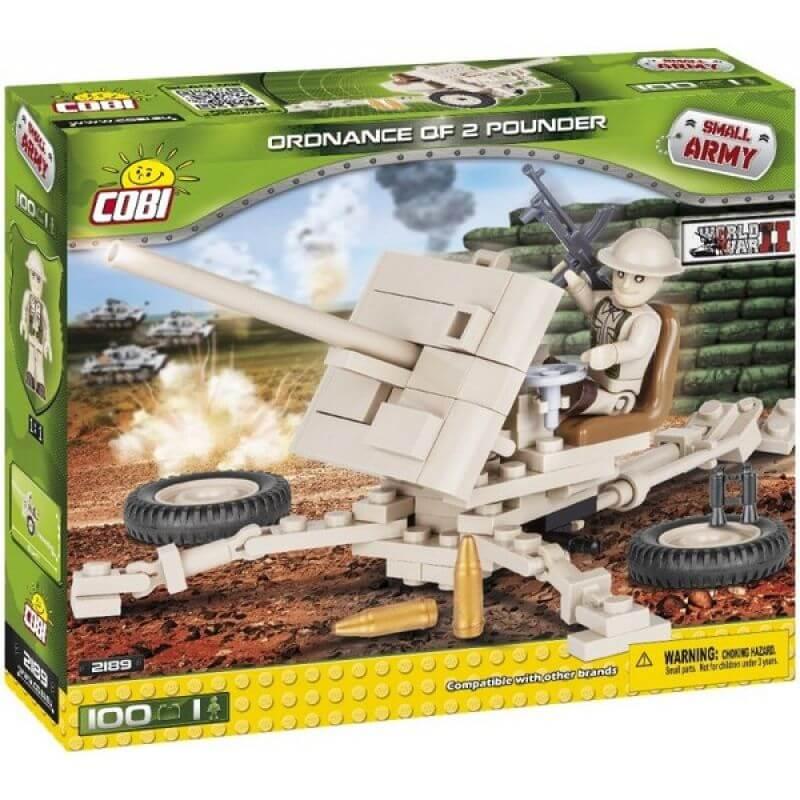 Small Army Ordnance QF 2-Pounder 100 klocków