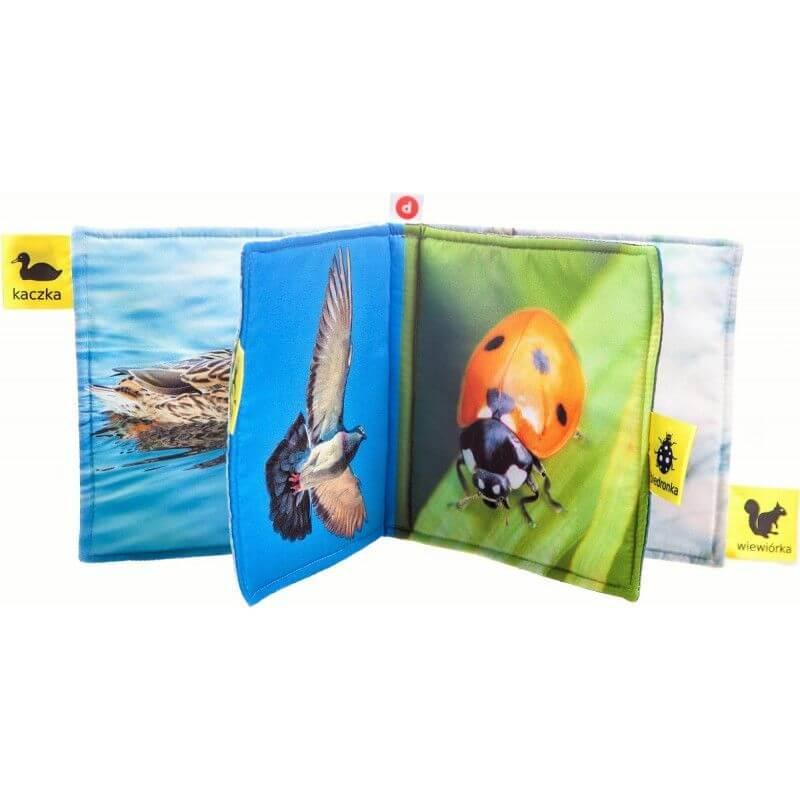 Miękka książeczka dla niemowląt rozpoznaję zwierzęta