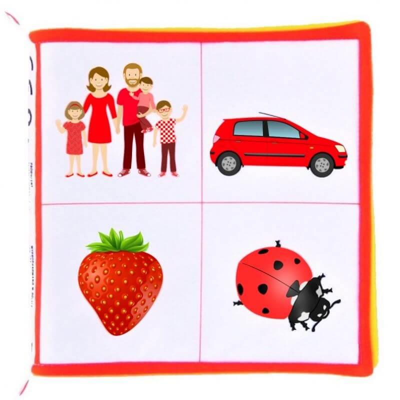 Książeczka dla niemowląt rozróżniam kolory