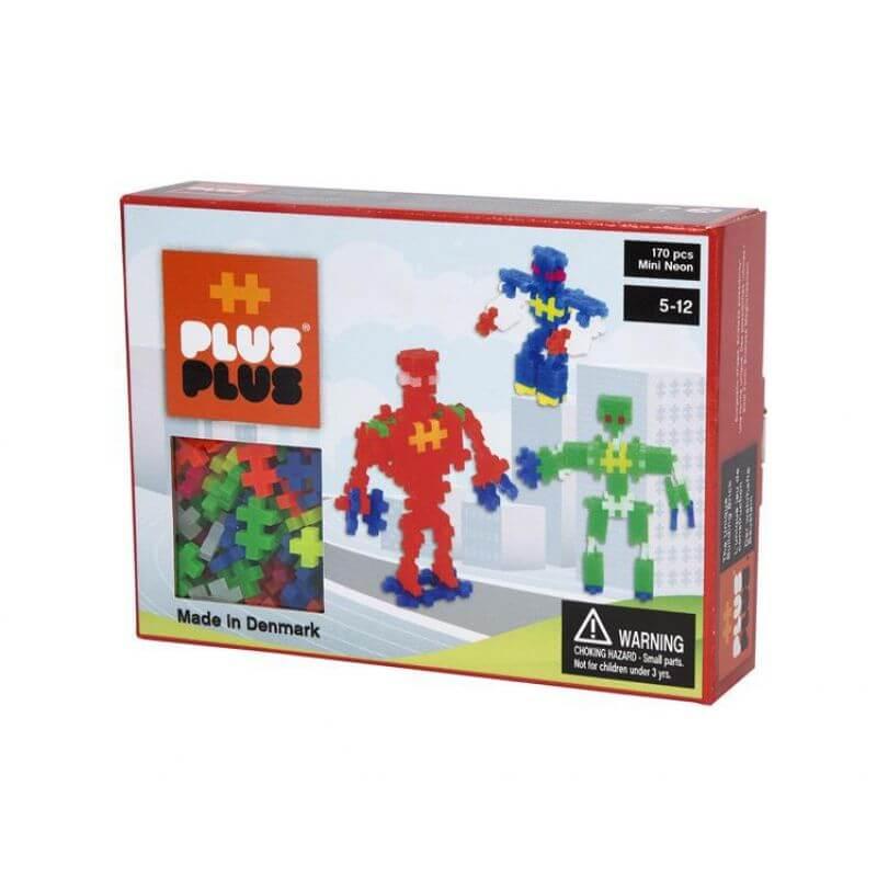 Klocki Plus-Plus 170 mini neon Roboty