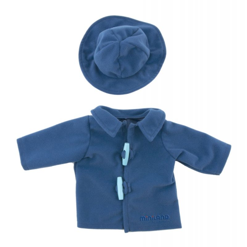 Ubranka dla lalki 40 cm - Płaszczyk z kapeluszem