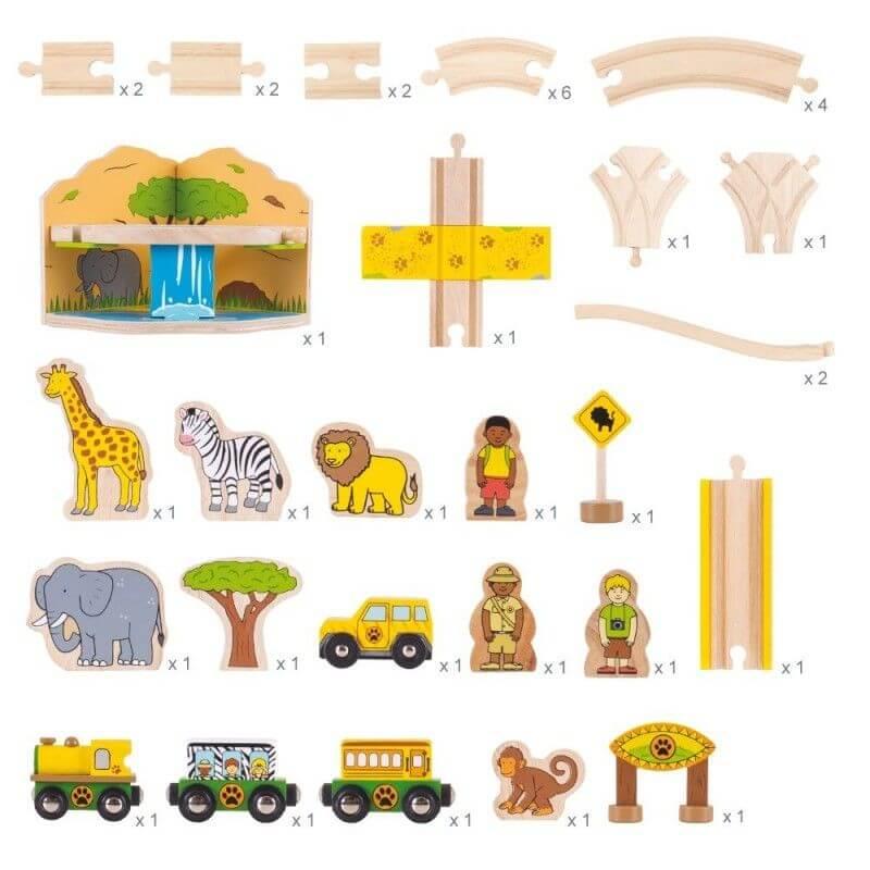 Kolejka drewniana Safari