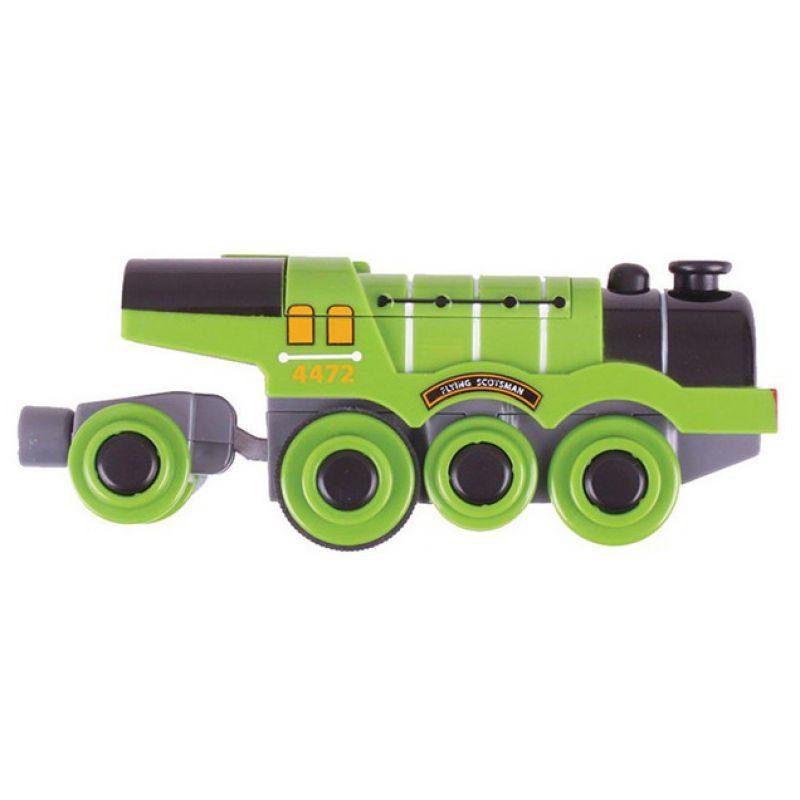 Zielona lokomotywa na baterie
